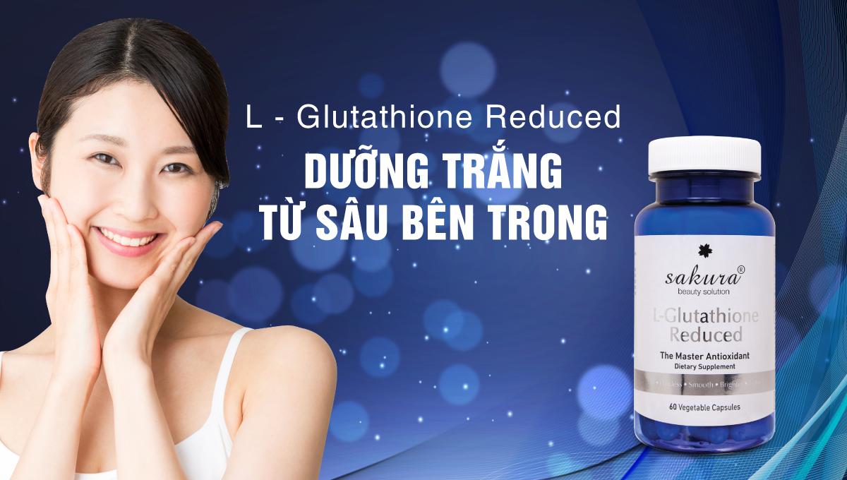 viên uống trắng da chống lão hoá Sakura L-Glutathione Reduced