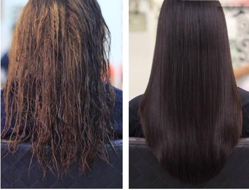 Kết quả hình ảnh cho tóc xơ rối và tóc mượt mà