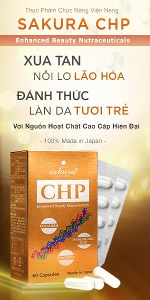 Viên uống làm đẹp da Sakura CHP Enhanced Beauty Nutraceuticals 60 viên