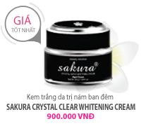 Kem Dưỡng Trắng Da, Trị Nám ( Đêm ) Sakura Whitening Night Cream