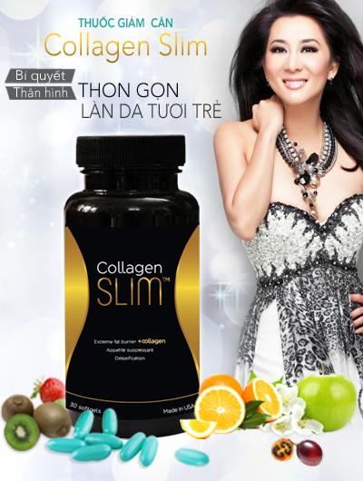 Viên uống Giảm Cân Collagen Slim USA