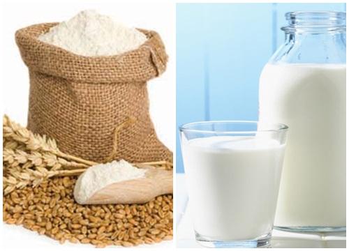 3 thìa sữa tươi, 3 thìa bột mì cho làn da trắng hồng trong tích tắc