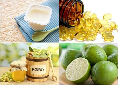 Điều trị sẹo lõm bằng Vitamin e, chanh, sữa chua, mật ong