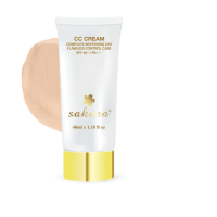 Kem trang điểm dưỡng trắng da Sakura CC Cream màu Light