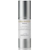 Kem dưỡng trắng sáng da mặt và mắt dạng tinh chất Cell Shock White Face & Eye Essences Swissline
