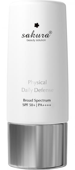 Nhũ tương chống nắng vật lý Sakura Physical Daily Defense SPF 50+ PA ++++ 60g