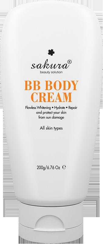 MUA 3 TẶNG 1 - Kem dưỡng trắng da và trang điểm nhẹ toàn thân Sakura Skin Whitening BB Body Cream