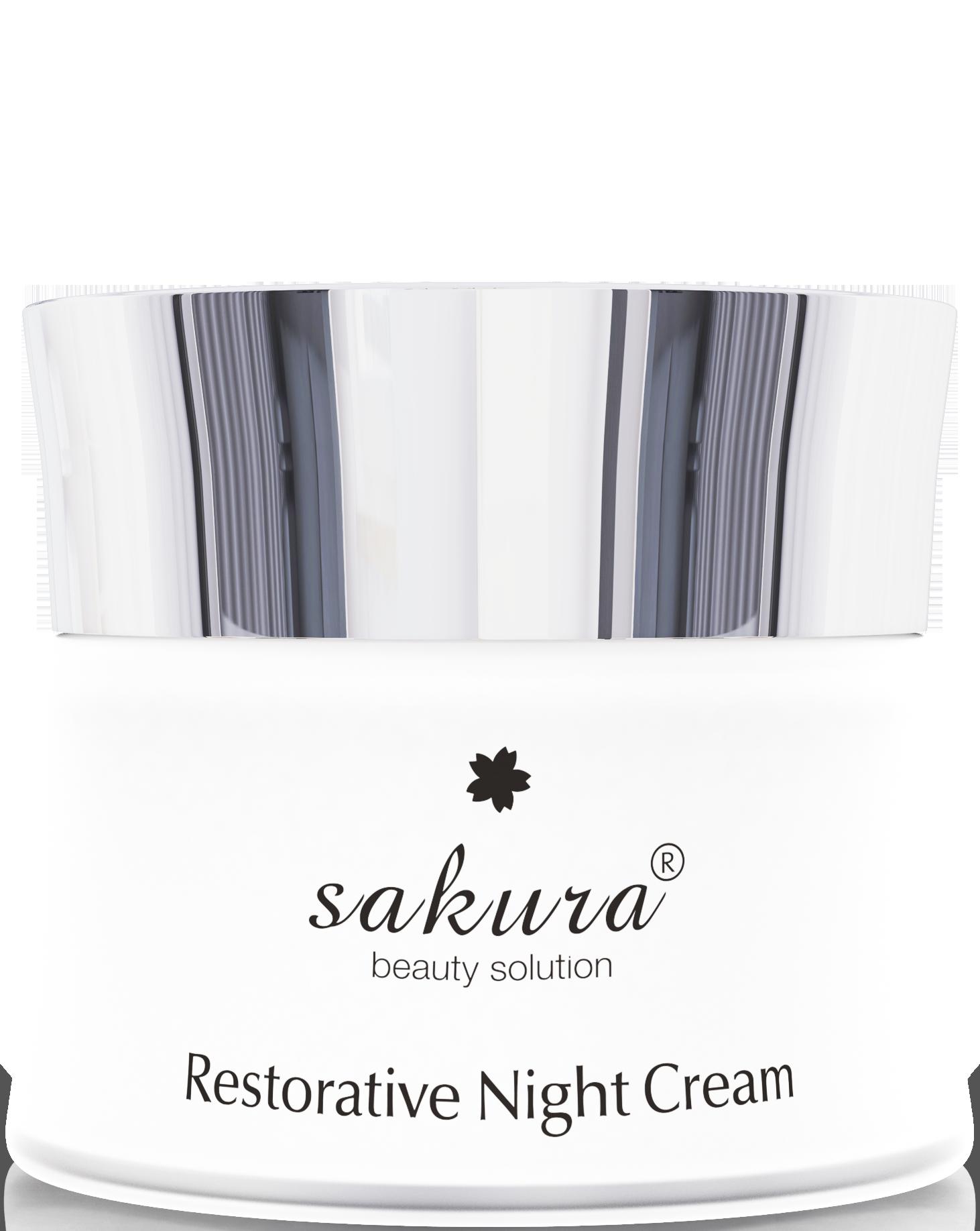 Kem dưỡng phục hồi da chống lão hoá ban đêm Sakura Restorative Night Cream