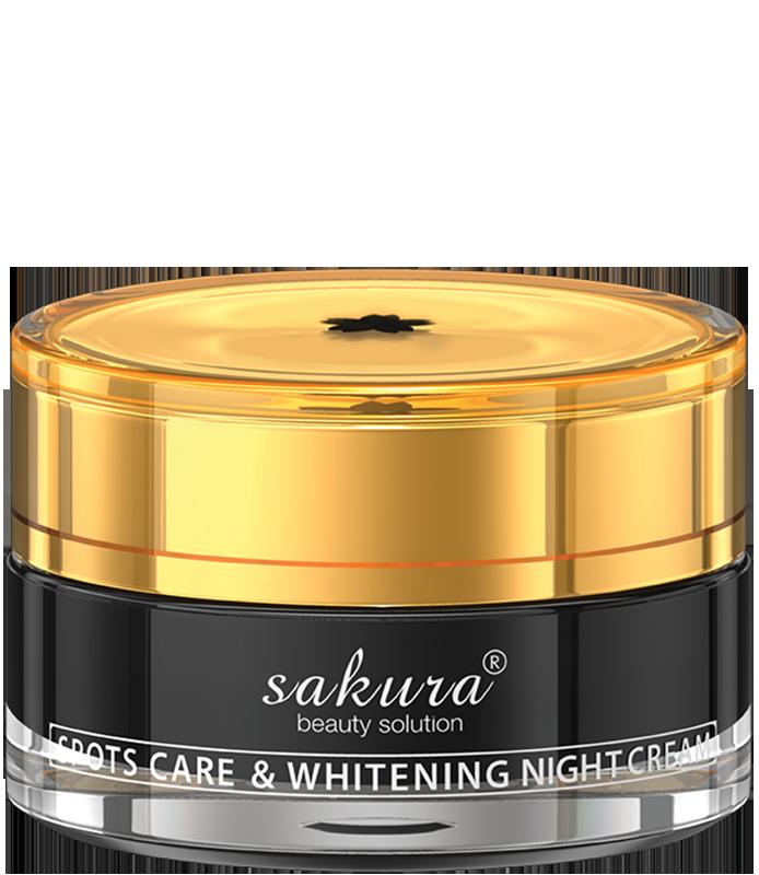 Kem dưỡng trắng da giúp giảm nám ban đêm Sakura Spots Care & Whitening Night Cream