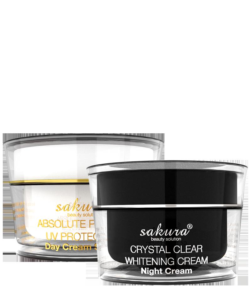 Bộ sản phẩm kem dưỡng trắng da giúp giảm nám Sakura Whitening