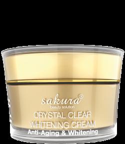 Kem dưỡng trắng da chống lão hóa Sakura Crystal Clear Whitening Cream Anti-Aging & Whitening 2016