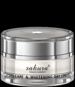 Kem dưỡng trắng da giúp giảm nám ban ngày Sakura spots care & whitening Day cream SPF 50+ PA++++