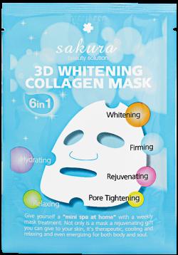 Mặt nạ làm trắng da Sakura 3D Whitening Collagen Mask