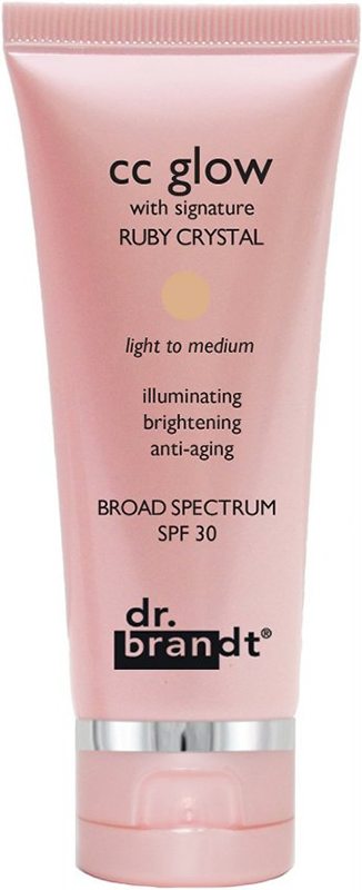 Kem trang điểm Dr.Brandt CC Glow với phức hợp Ruby Crystal chống lão hóa