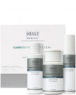 Bộ sản phẩm giảm mụn mạnh mẽ cho da nhờn Obagi Clenziderm Oily Set