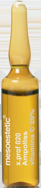 Vitamin C điều giúp giảm nám đốm nâu Mesoestetic Ampoules of Vitamin C 20‰