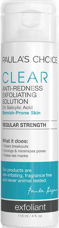 Tinh chất giảm mụn và ban đỏ Paula's Choice Clear Regular Strength Anti-Redness Exfoliating Solution 118ml