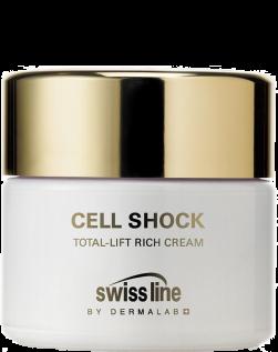 Kem giàu dinh dưỡng chống lão hóa và nâng cơ Swissline Total Lift Rich Cream