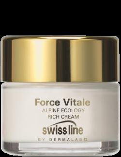 Kem sinh học hồi sinh da khô lão hóa Swissline Alpine Ecology Rich Cream