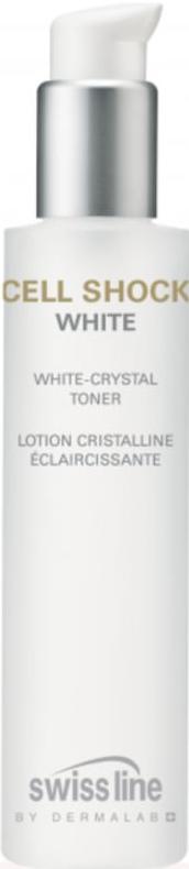 Nước hoa hồng cân bằng và làm trắng sáng da Swissline Cell Shock White Crystal Toner