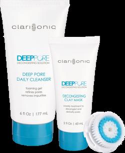 Bộ sản phẩm chăm sóc da lỗ chân lông to Clarisonic Deep Pore Detoxifying Replenishment Kit