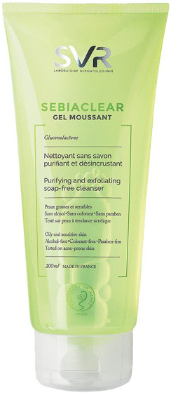 Gel rửa mặt dành cho da dầu SVR Sebiaclear Gel Moussant