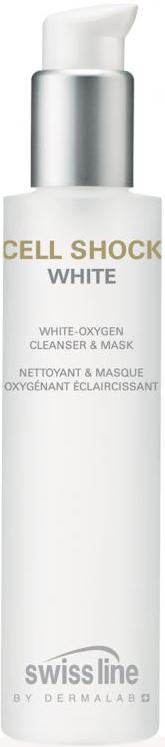 Sữa rửa mặt  kiêm mặt nạ làm trắng da Cell Shock White Oxygen Cleanser & Mask Swissline