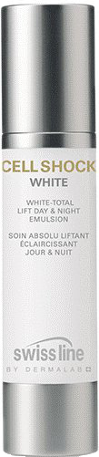 Nhũ tương nâng cơ làm trắng da ngày đêm Swissline White Total Lift Day & Night Emulsion