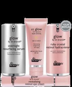 Bộ kem dưỡng da chống lão hóa Dr.Brandt Luminous Glow Value Set