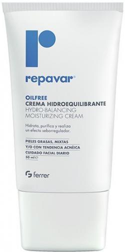 Kem dưỡng ẩm dành cho da nhờn mụn Repavar Oilfree Hydro Balancing Moisturizing Cream