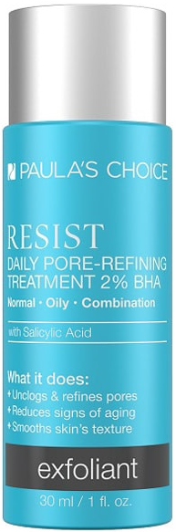 Tinh chất giúp se khít lỗ chân lông Paula's Choice Resist Daily Pore Refining Treatment 2% BHA 30ml