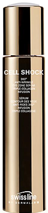 Tinh chất làm đầy nếp nhăn vùng mắt Swissline 360 Anti Wrinkle Eye Zone Serum Tripple Collagen Infusion