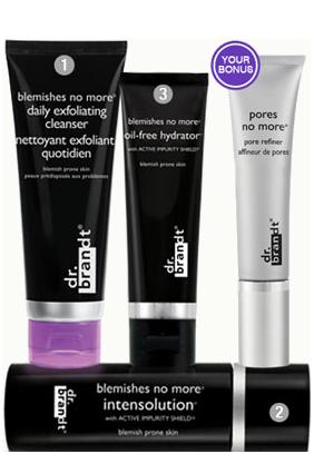 Giải pháp cho da mụn và nhiều khuyết điểm Dr.Brandt Blemishes/Acne Skincare Solution
