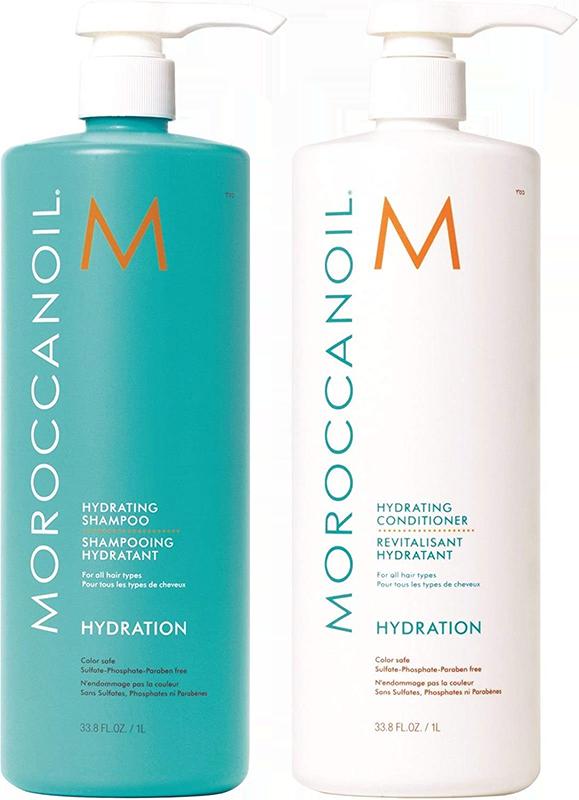 Cặp dầu gội dưỡng ẩm Moroccanoil Hydration 1000ml