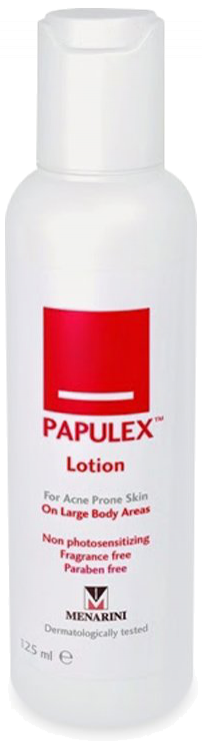Lotion hỗ trợ giảm mụn Papulex Lotion On Large Body Areas