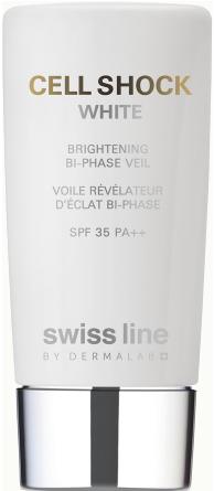Nhũ tương bảo vệ làm trắng da Swissline Cell Shock White Brightening Bi-Phase Veil SPF 35 PA++
