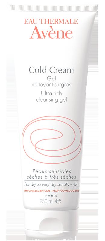 Gel rửa mặt và tắm cho da khô Avène Cold Cream Ultra Rich Cleansing Gel