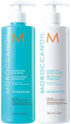 Cặp dầu gội dưỡng ẩm Moroccanoil Hydration
