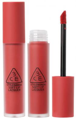 Son kem lì 3CE Soft Lip Lacquer Explicit - Hồng San Hô