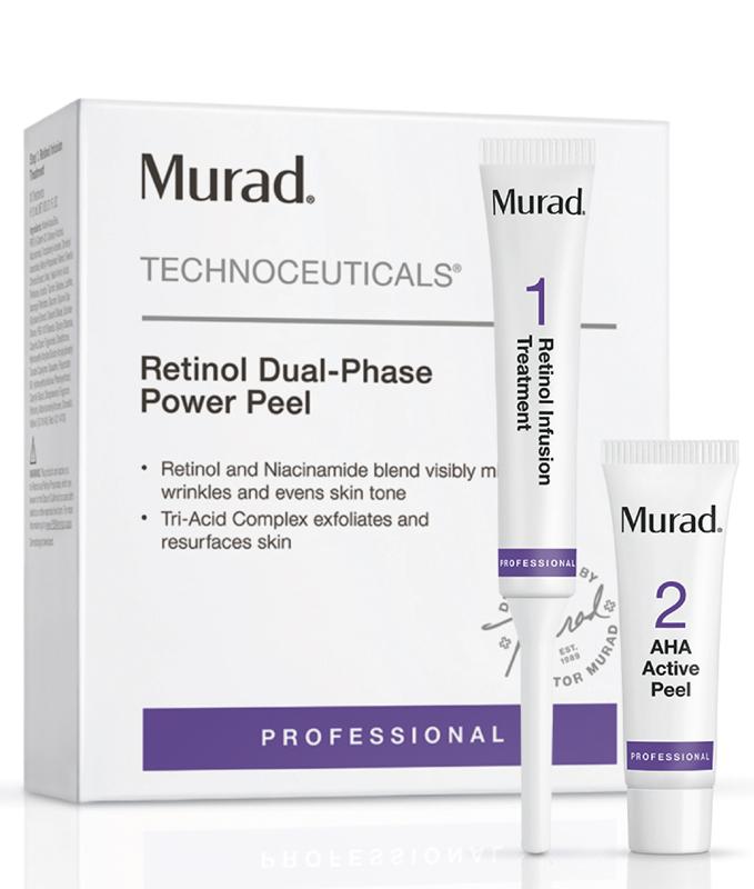 Bộ sản phẩm tăng cường hoạt chất giúp săn chắc và trẻ hóa da Murad Retinol Dual-Phase Power Peel