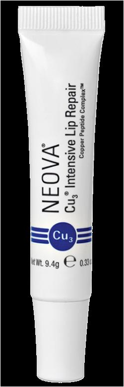Kem dưỡng ẩm, giảm thâm, xóa nhăn và căng bóng môi Neova Cu3 Intensive Lip Repair