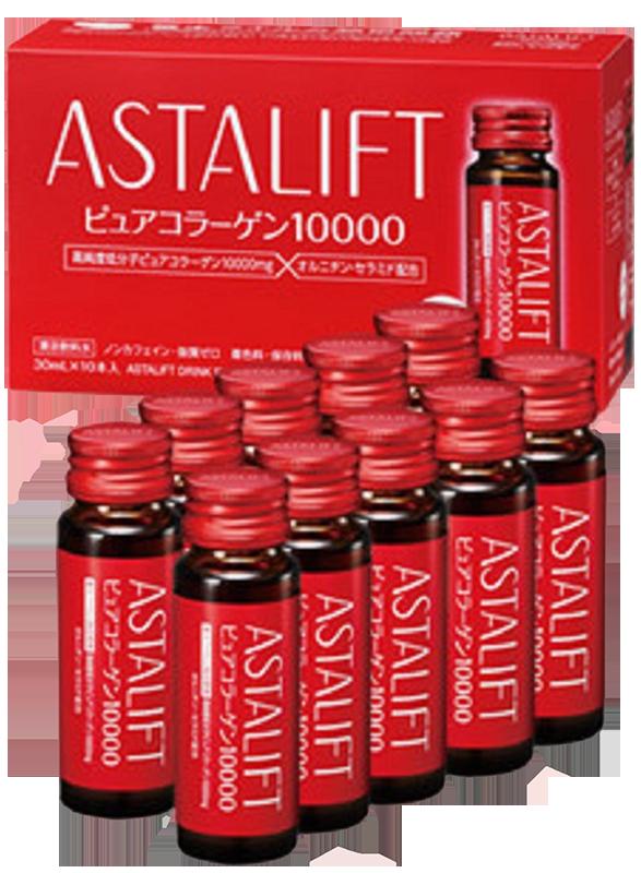 Nước uống bổ sung Collagen tinh khuyết dạng nước Astalift Drink Pure Collagen 10,000mg (10 chai)
