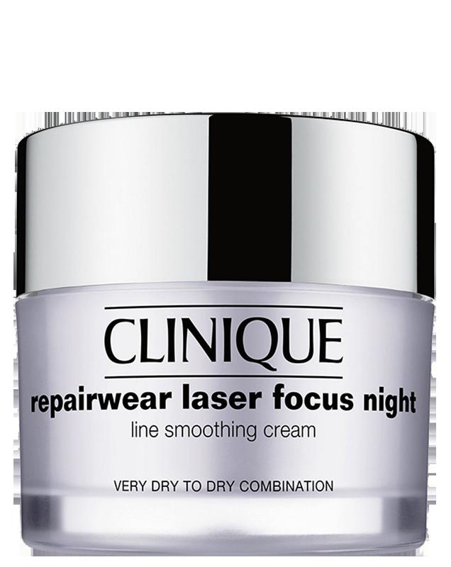 Kem chống lão hóa ban đêm cho da khô Clinique Repairwear Laser Focus Night Ln Smth Very dry /Dry Combination