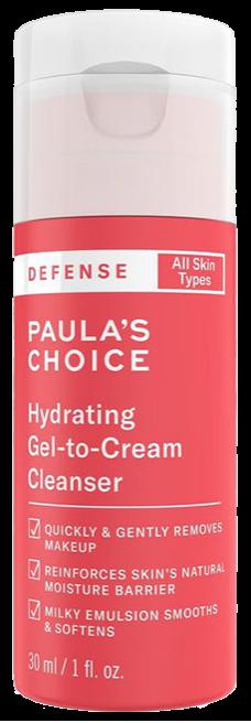 Sữa rửa mặt dành cho mọi loại da Paula's Choice Defense Hydrating Gel to Cream Cleanser 30ml