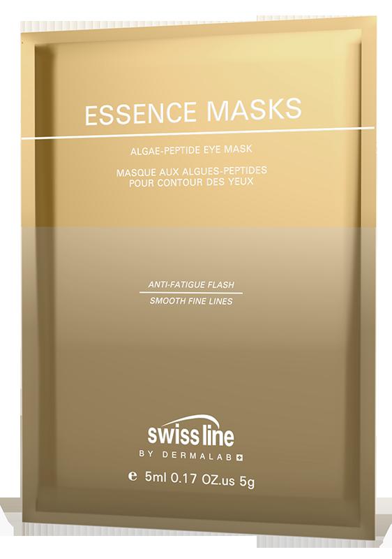 Mặt nạ xóa nhăn, bọng mỡ và quầng thâm cho mắt Swissline Essence Masks Algae Peptide Eyes Mask