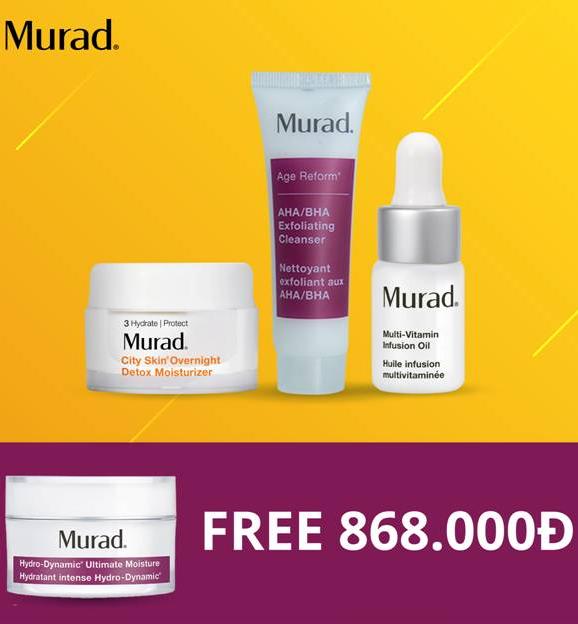 Bộ dưỡng ẩm, thải độc tố Murad