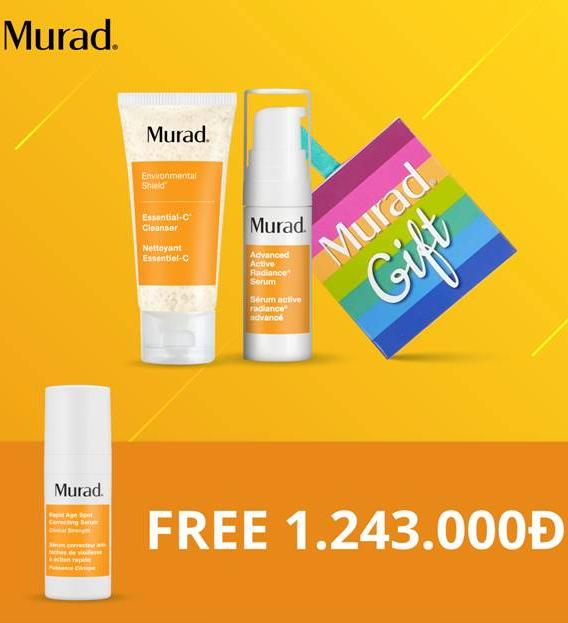 Bộ giảm nám, dưỡng trắng da Murad