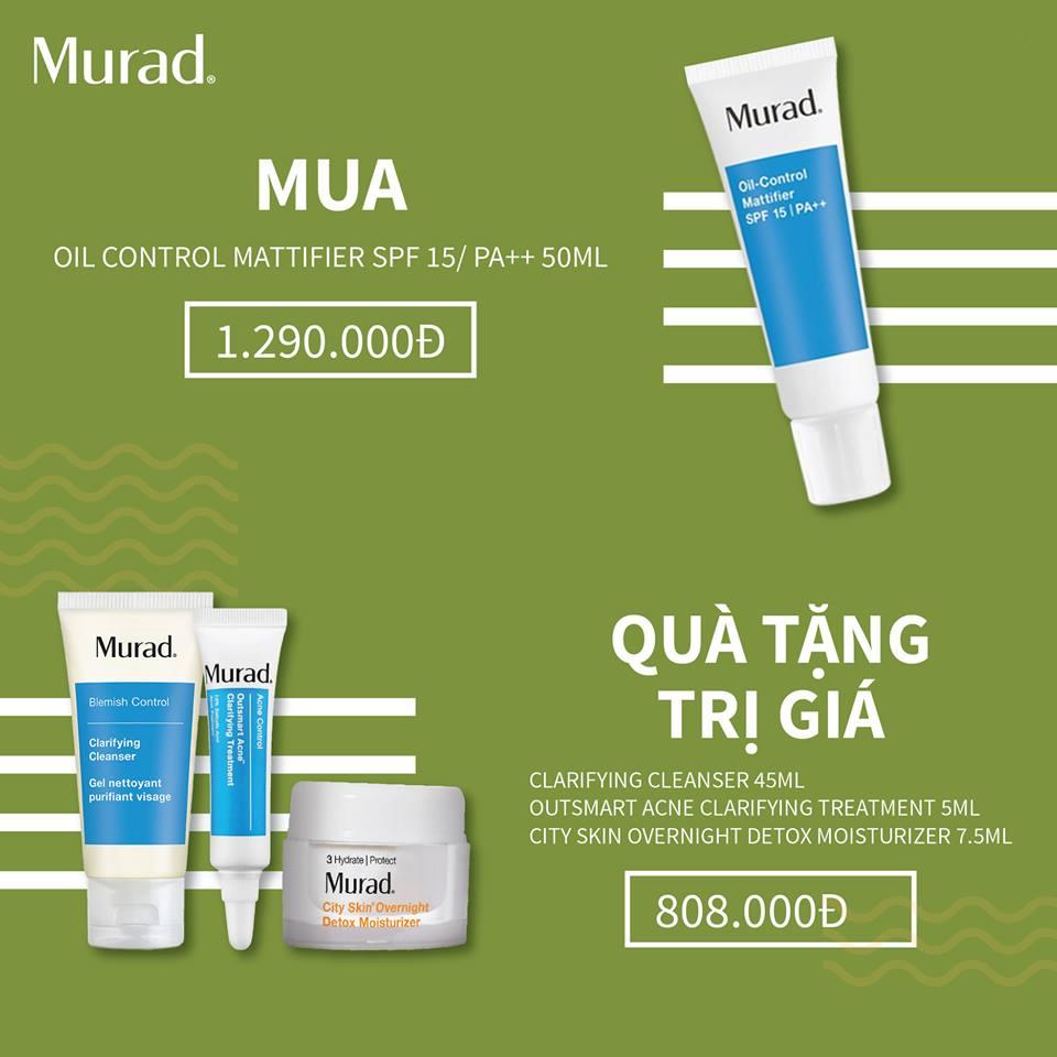 Bộ sản phẩm chống nắng, kiềm dầu hoàn hảo Murad