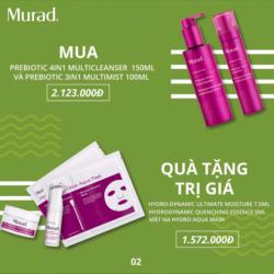 Bộ đôi tẩy trang và dưỡng ẩm cao cấp Murad