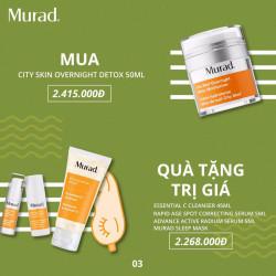 Bộ sản phẩm làm sạch, thải độc và mờ thâm, nám Murad